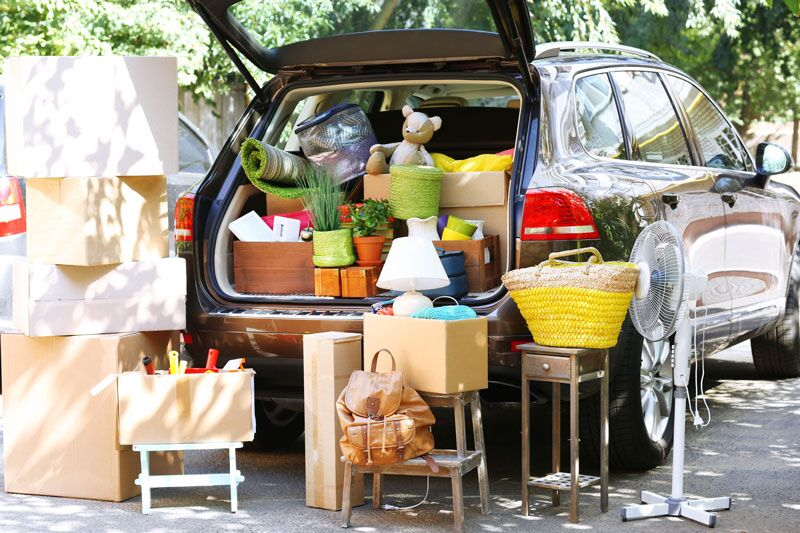 car loaded up for moving, personal property insurance options