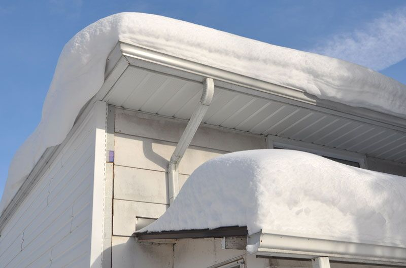 snow on home roof, prevent claims this winter