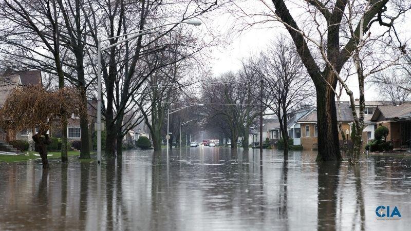 flood on the road